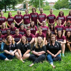 2015 Orientation Leaders all posed together during camp.